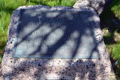 Inscription Plate of Fort Belknap Marker image. Click for full size.
