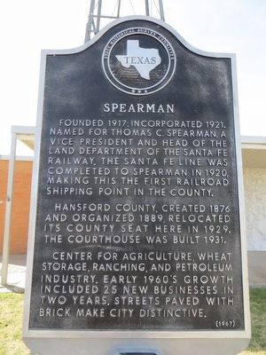 Spearman Marker image. Click for full size.