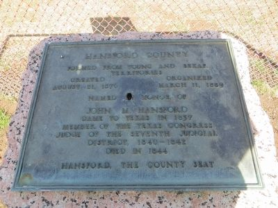 Hansford County Marker image. Click for full size.