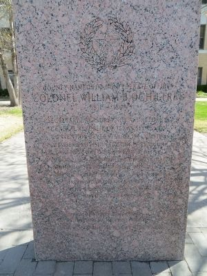Colonel William B. Ochiltree Marker image. Click for full size.