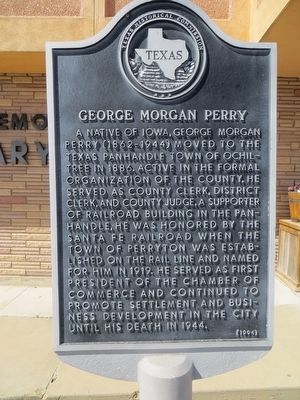 George Morgan Perry Marker image. Click for full size.