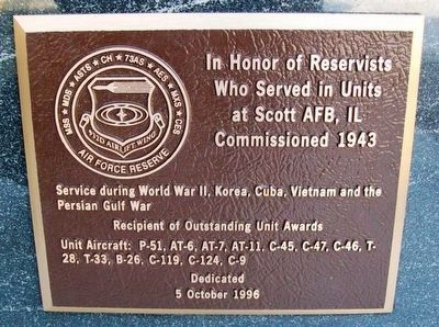 932nd Airlift Wing, Air Force Reserve Marker image. Click for full size.