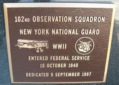 102nd Observation Squadron Marker image. Click for full size.