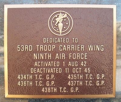 53rd Troop Carrier Wing Marker image. Click for full size.