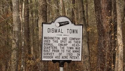 Dismal Town Marker image. Click for full size.
