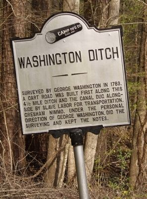 Washington Ditch Marker image. Click for full size.