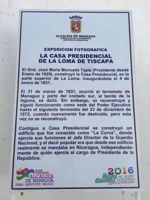 The Presidential House of Nicaragua Marker image. Click for full size.