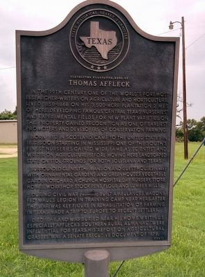 Glenblythe Plantation, Home of Thomas Affleck Marker image. Click for full size.