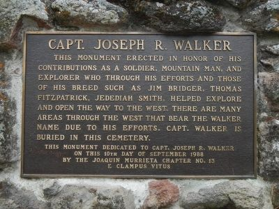 Captain Joseph R. Walker Marker image. Click for full size.