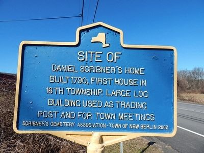 Site of Daniel Scribner's Home Marker image. Click for full size.
