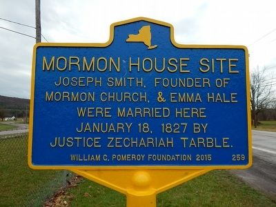 Mormon House Site Marker image. Click for full size.