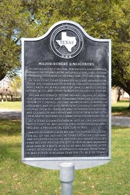 Major Robert S. Neighbors Marker image. Click for full size.