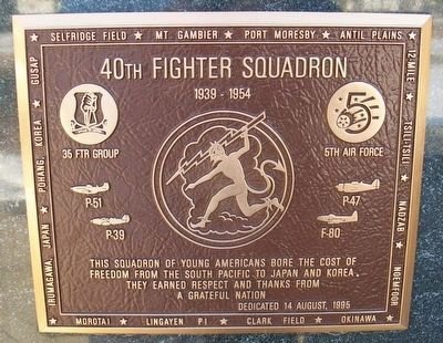 40th Fighter Squadron Marker image. Click for full size.