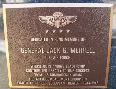 General Jack G. Merrell Marker image. Click for full size.