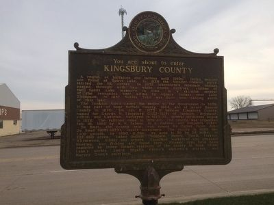 Kingsbury County South Dakota Marker image. Click for full size.