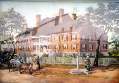 Chancellorsville Inn-painting on marker image. Click for full size.