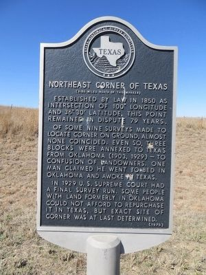 Northeast Corner of Texas Marker image. Click for full size.