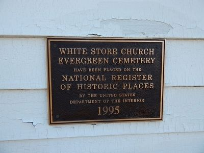 White Store Church Marker image. Click for full size.