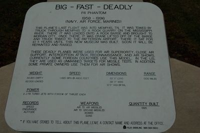 Big - Fast - Deadly Marker image. Click for full size.