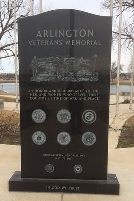 Arlington Veterans Memorial Marker image. Click for full size.