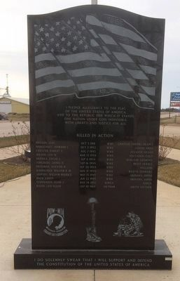 Arlington Veterans Memorial Marker Obverse image. Click for full size.
