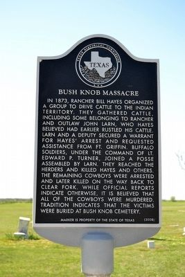 Bush Knob Massacre Marker image. Click for full size.