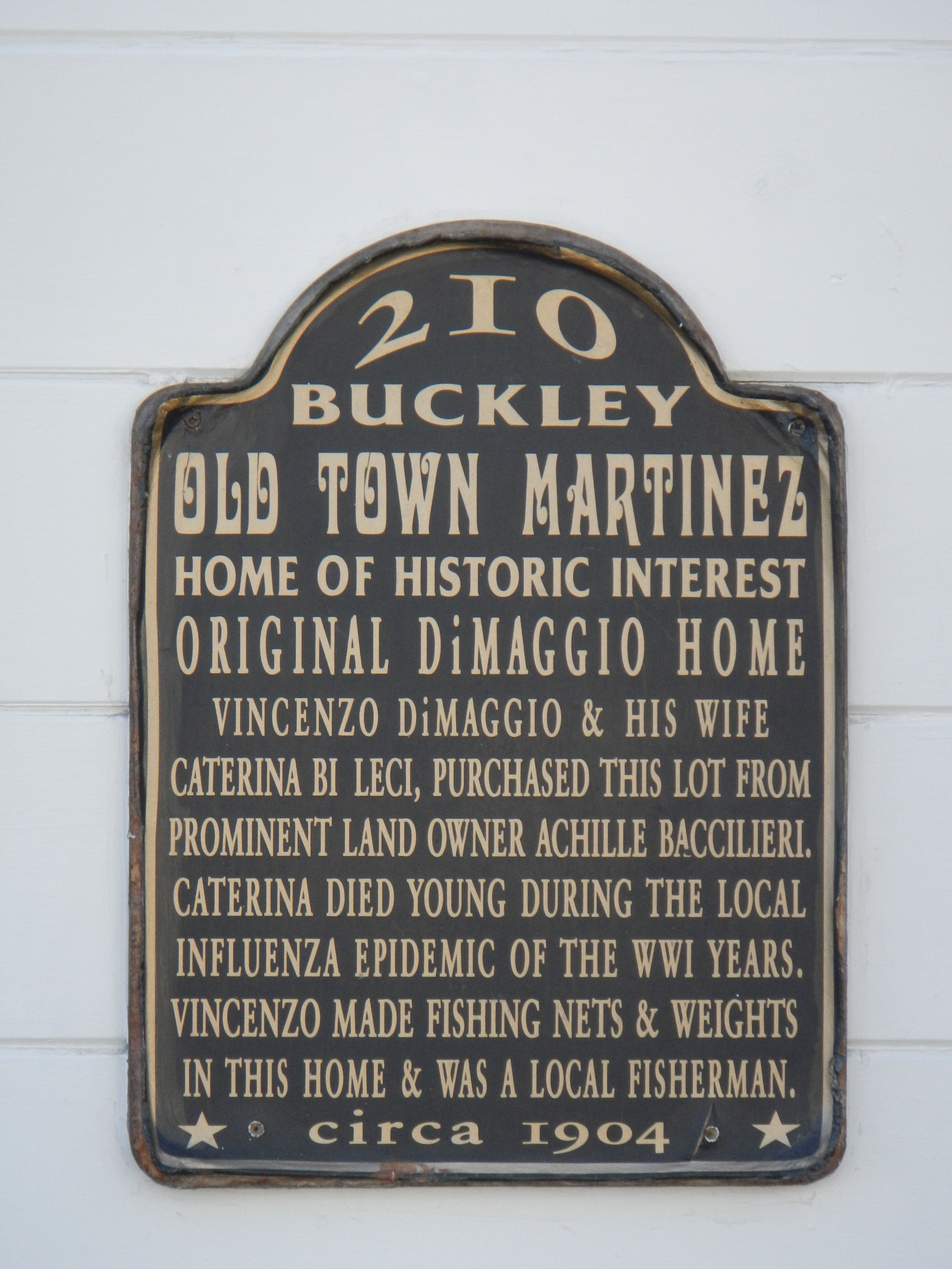 210 Buckley Marker