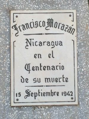 Francisco Morazán Marker image. Click for full size.