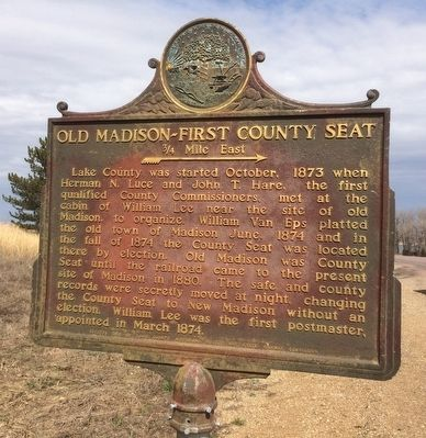 Old Madison – First County Seat Marker image. Click for full size.