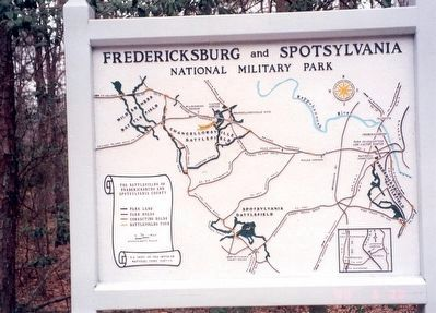 Map of the Fredericksburg and Spotsylvania National Military Park image. Click for full size.