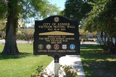 City Of Kenner Vietnam Moving Wall Marker Side 1 image. Click for full size.
