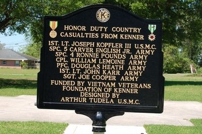 City Of Kenner Vietnam Moving Wall Marker Side 2 image. Click for full size.