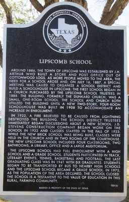 Lipscomb School Marker image. Click for full size.