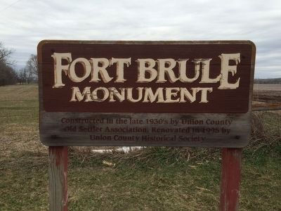 Sign Explaining the Fort Brule Marker image. Click for full size.