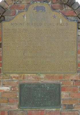 Mount Diablo Coal Field Marker image. Click for full size.