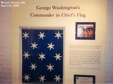 Inside the Mansion-George Washington's Commander in Chief's Flag image. Click for full size.