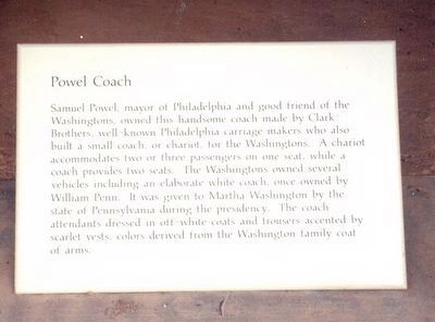 Powel Coach Marker image. Click for full size.