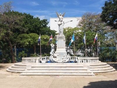 Monument to Rubén Darío near the Central Park of Managua image. Click for full size.