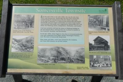 Somersville Townsite Marker image. Click for full size.