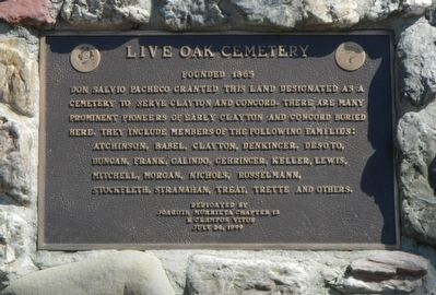 Live Oak Cemetery Marker image. Click for full size.