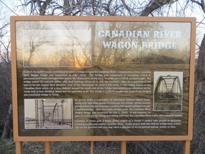Canadian River Wagon Bridge Marker image. Click for full size.