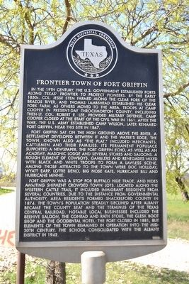 Frontier Town of Fort Griffin Marker image. Click for full size.