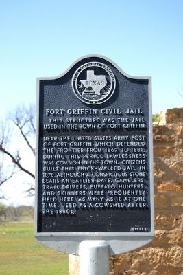 Fort Griffin Civil Jail Marker image. Click for full size.
