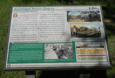 Blackhawk Ranch Quarry Marker image. Click for full size.