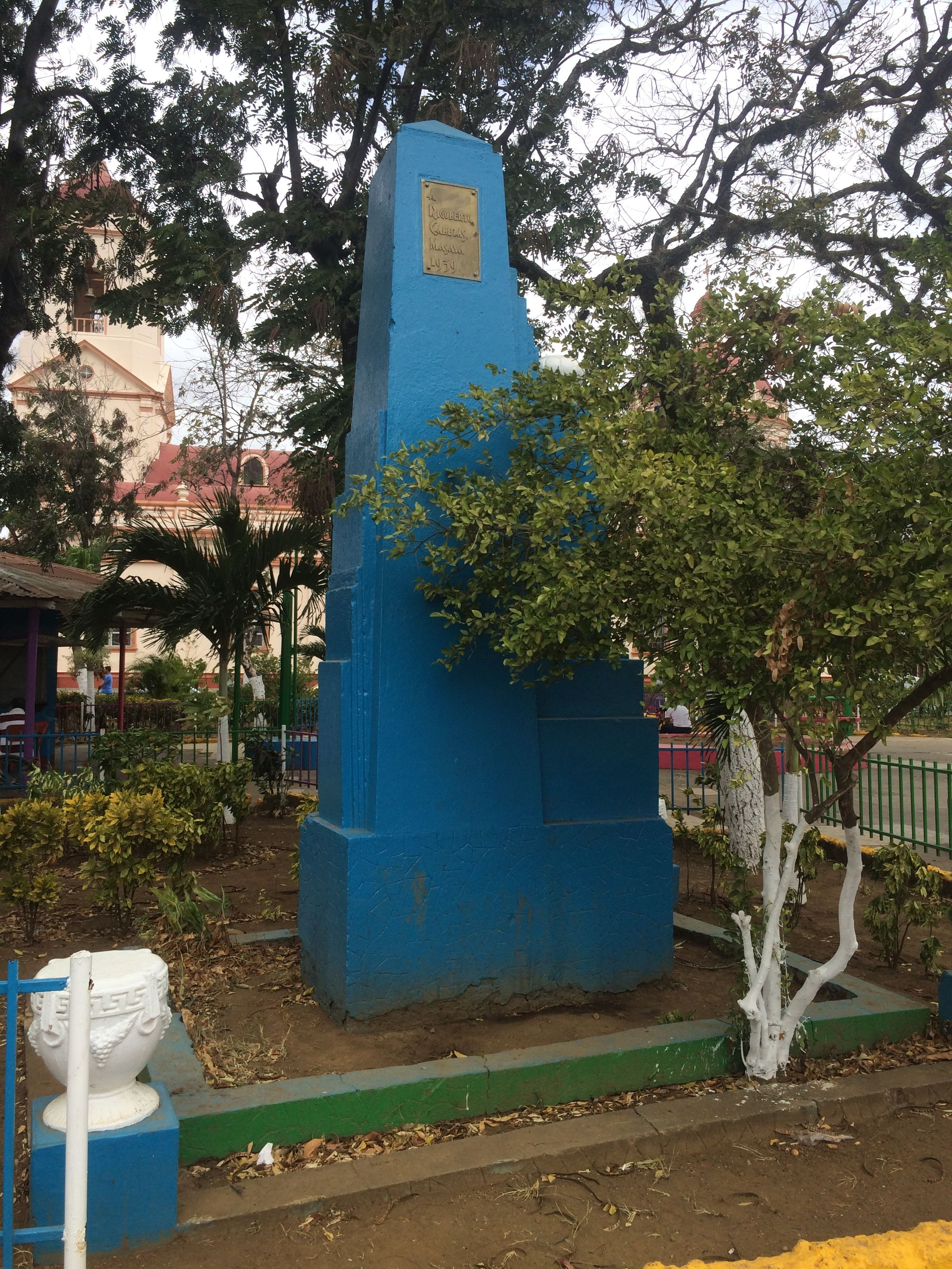 An additional monument and marker to General Rigoberto Cabezas