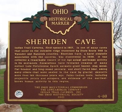 Sheriden Cave Marker image. Click for full size.