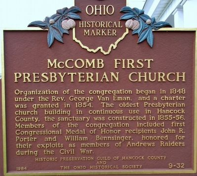 McComb First Presbyterian Church Marker image. Click for full size.