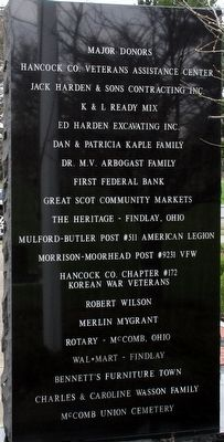 McComb Veterans Memorial Marker image. Click for full size.