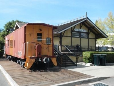 The Southern Pacific, Danville Depot image. Click for full size.