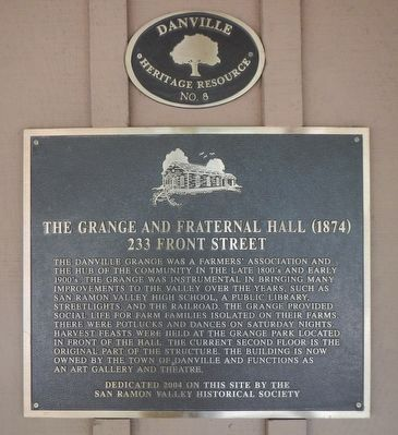 The Grange and Fraternal Hall (1874) Marker image. Click for full size.